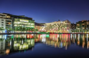 grand-canal-dock-at-night-dublin