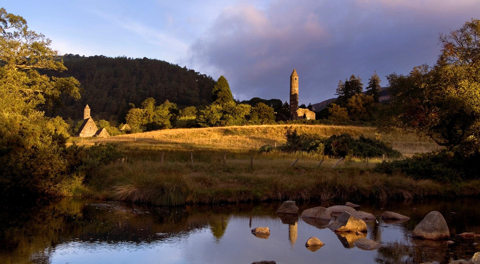 Glendalough tower, Wicklow